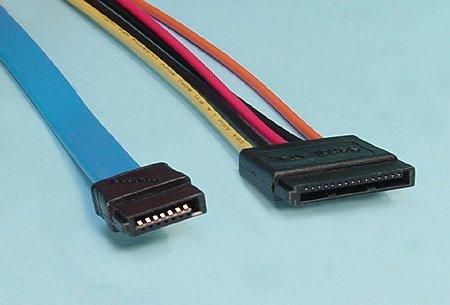 シリアルATAケーブルとシリアル電源ケーブル
